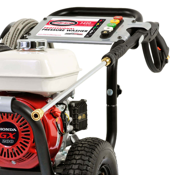 SIMPSON 60995 3,400-Psi 2.5 Gpm Gas Pressure Washer By Honda