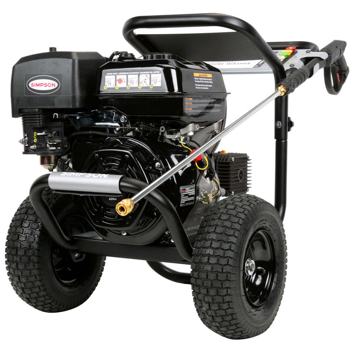 SIMPSON 60843 4.0 GPM 420cc Professional Gas Pressure Washer w/ AAA Plunger