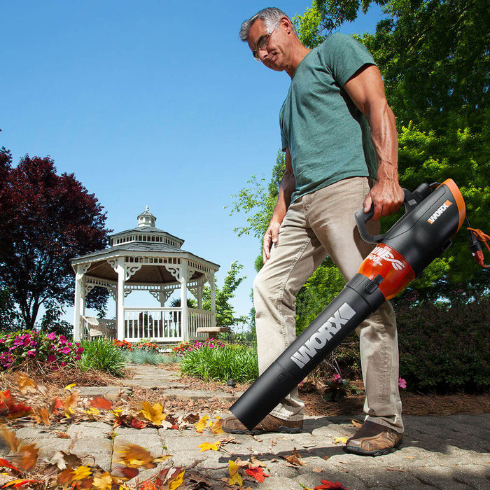 WORX WG520 120-Volt 12-Amp 600-Cfm Lightweight Turbine Electric Leaf Blower