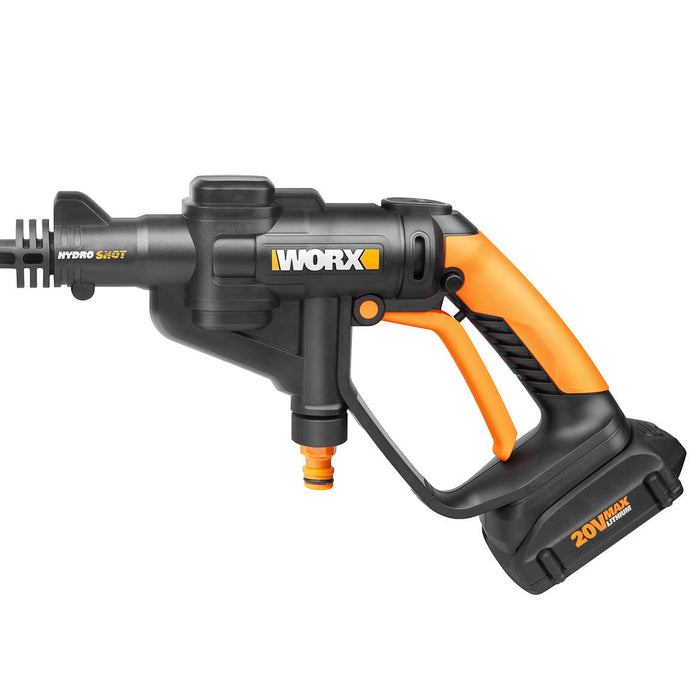 Worx WG629 20-Volt 2-Speed Cordless Lithium-Ion Hydroshot Power Nozzle Cleaner