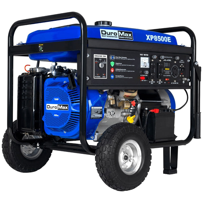 DuroMax XP8500E 8500-Watt 16-Hp Gas Generator w/ Elect Start and Wheel Kit