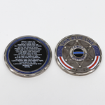 Thin Blue Line 6 Point Star Family Support Challenge Coin