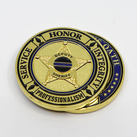Deputy Sheriff's Oath - Thin Blue Line Challenge Coin
