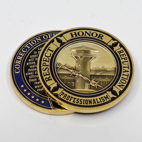 Correction Officer's Oath Challenge Coin (Code 3)