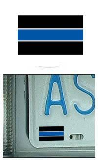 Thin Blue/Silver Line Reflective Mini Decal