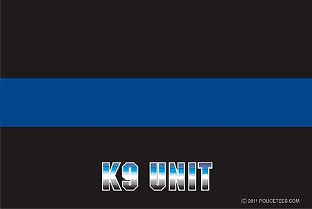 Thin Blue Line K-9 Unit Decal