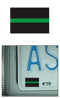 Thin Green Line Mini Flag Shaped Decal