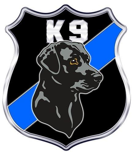K-9 Shield Black Lab Decal - 4 in. Decal