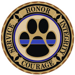 Thin Blue Line K9 Honor Courage Reflective Decal