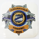 Corona Virus Pandemic Shield Decal  Reflective Decal  Honoring Those Served- 7 Point Star