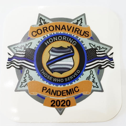 Corona Virus Pandemic Shield Decal  Reflective Decal  Honoring Those Served- 7 Point Star  ( Stocking Stuffer )