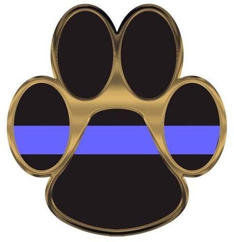 Thin Blue Line K-9 Paw Decal
