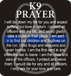 Thin Blue Line K9 Prayer Reflective Decal