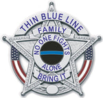 Thin Blue Line Family Support Reflective Decal