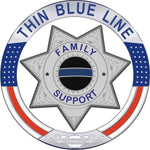 Thin Blue Line Family Support 7 Point Star  Reflective Decal