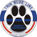 Thin Blue Line Family Support K9 Reflective Decal