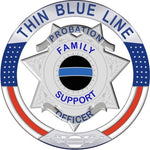 Thin Blue Line Family Support Probation Officer  Reflective Decal
