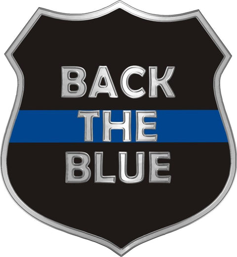 Donation Back The Blue Thin Blue Line Shield Decal