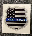 Donation Decal Back The Blue Thin Blue Line  Shield Decal