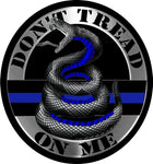 Thin Blue Line  Do Not Tread On Me Reflective Decal