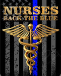 Nurses Back the Blue Thin Blue Line Flag Decal