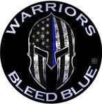 Warrior Bleed Blue®  Metallic Thin Blue Line Reflective Circle Decal