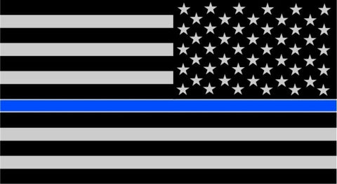 Reverse Thin Blue Line Subdued American Flag Decal