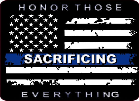 Donation Decal Honor Those Sacrificing Everything Thin Blue Line Distress Flag