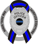 Donation Decal Police Officer Shield Honor Those  Who Sacrificed Everything Thin Blue Line Ribbon