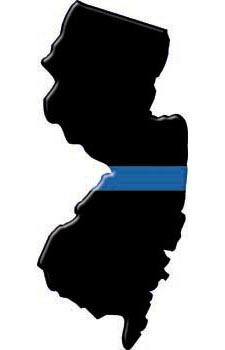 Thin Blue Line New Jersey State Decal