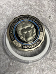 In Valor There Is Hope, The Righteous Are As Bold As Lions Proverbs 28:1  Thin  Blue Line Challenge  Coin ( Code 3)