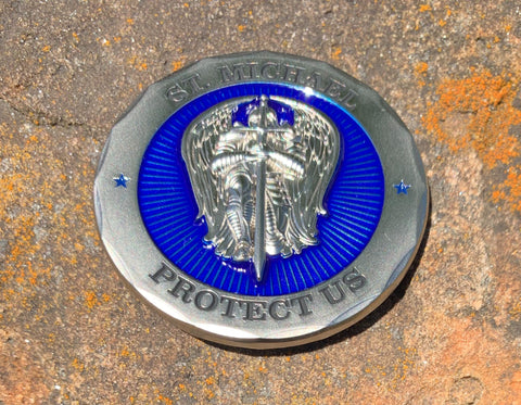 St Michael Protect Us Policeman's Prayer Challenge Coin