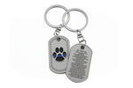 K-9 Paw - K-9 Prayer Brushed Steel Keychain