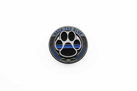 Back The Blue Thin Blue Line K9 Support Pin