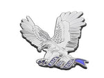 Back The Blue Thin Blue Flying 3D Eagle Support Pin  (Code 3)