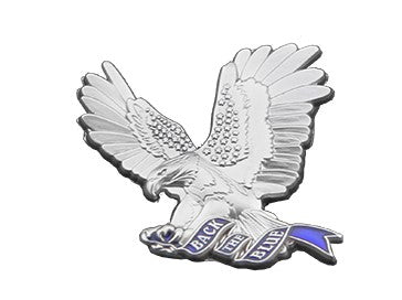 Back The Blue Thin Blue Flying 3D Eagle Support Pin
