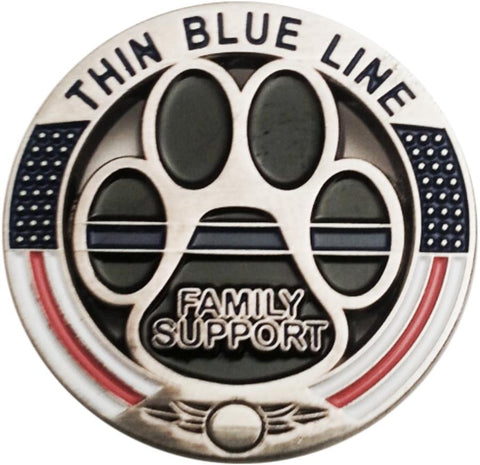 Thin Blue Line Family Support  K9 Pin