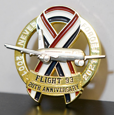 Limited Edition 20th Anniversary USA Ribbon Flight 93 2001-2021 Never Forget