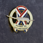 Limited Edition 20th Anniversary USA Ribbon Flight 93 2001-2021 Never Forget Pin