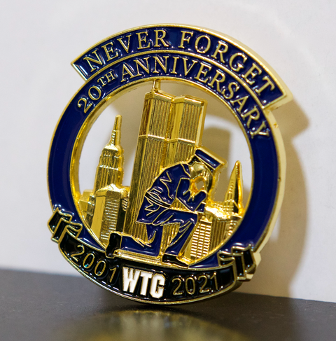 UNDER 100 IN STOCK  Limited Edition 20th Anniversary World Trade Center Police Officer Kneeling 2001-2021 Never Forget
