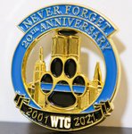 Limited Edition 20th Anniversary World Trade Center Thin Blue Line K9 2001-2021 Never Forget