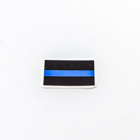 POLICE WEEK SPECIAL Thin Blue Line Mini Flag Shaped Decal