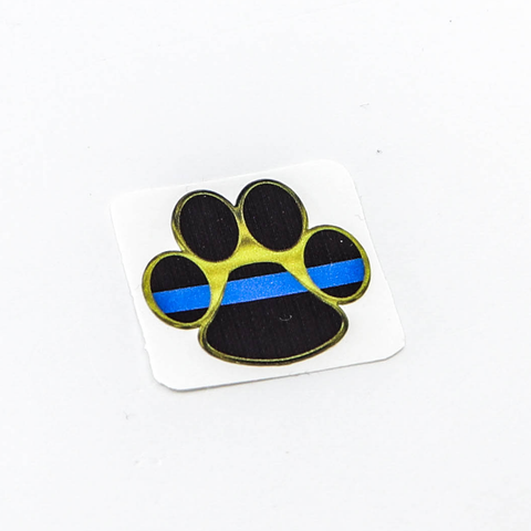 K-9 Paw Thin Blue Line Reflective Mini Decal