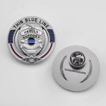 Thin Blue Line Family Support Police Pin
