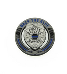 Back The Blue Thin Blue Line Police Support Pin