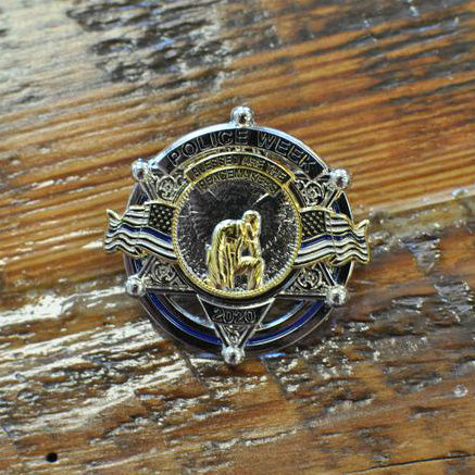 Police Week Sale Full Size Limited Edition 6 Point Star National Police Week 2020 Blessed are the Peacemakers Thin Blue Line Memorial Metal Badge