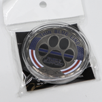 Thin Blue Line K9  Paw Family Support Challenge Coin