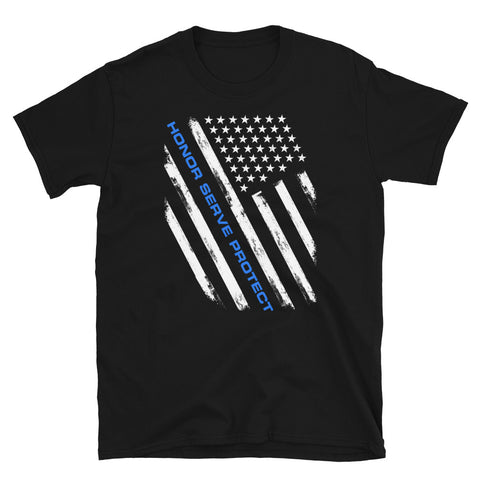 Honor, Serve, & Protect Thin Blue Line Tee