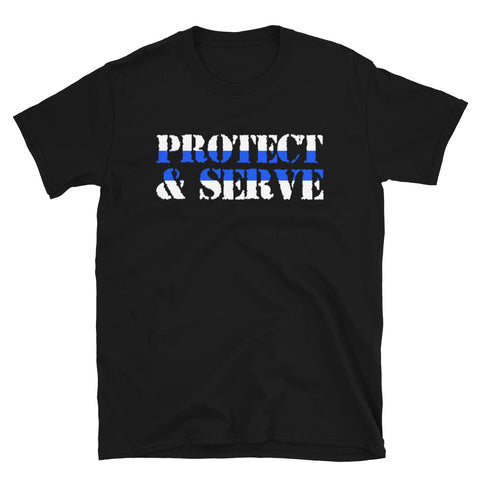 Protect & Serve Thin Blue Line Tee