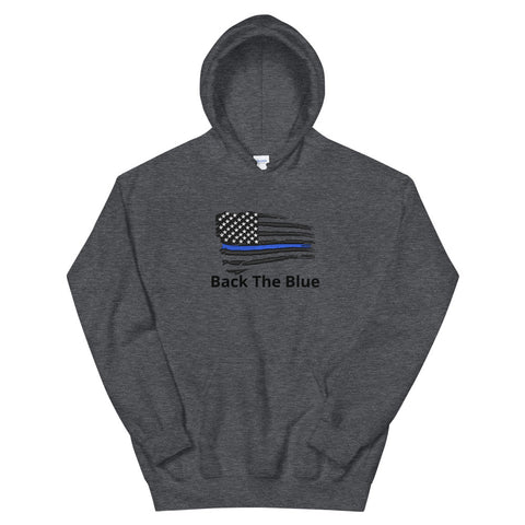 Back the Blue Black Tethered Flag Hooded Sweatshirt Hoodie